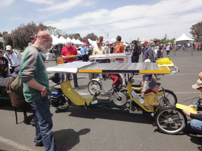 A big solar powered bike