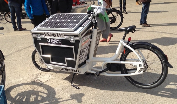 A solar powered bike