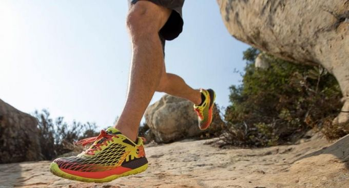 Image showing a man running in trail shoes on a sunny day