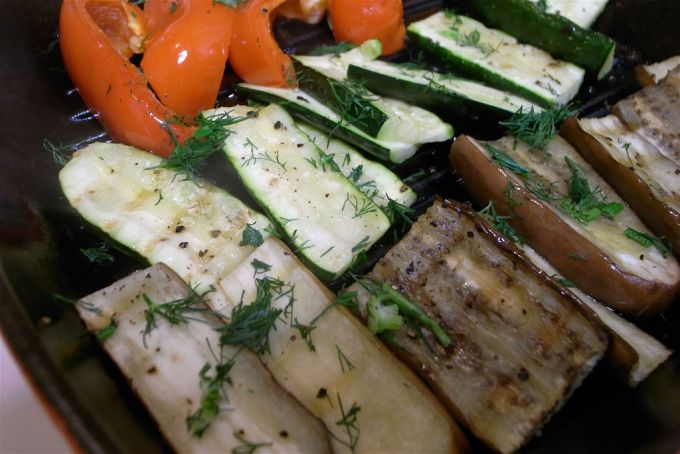 camping Fire roasted vegetables