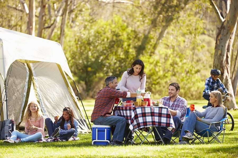 Campsite and cooking equipment