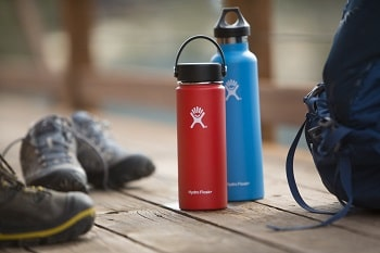 Hydro Flask Vacuum Insulated Stainless Steel Water Bottle, Wide Mouth w Flex Cap