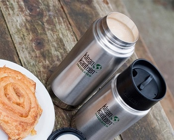 Klean Kanteen Wide Insulated Stainless Steel Bottle with Loop Cap 20-Ounce