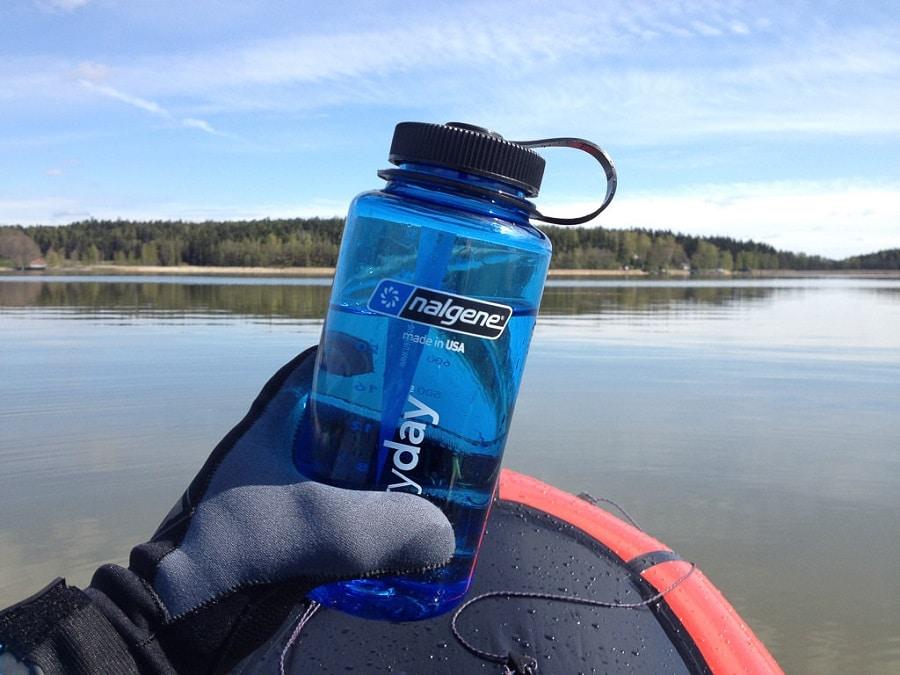 Water bottle grip