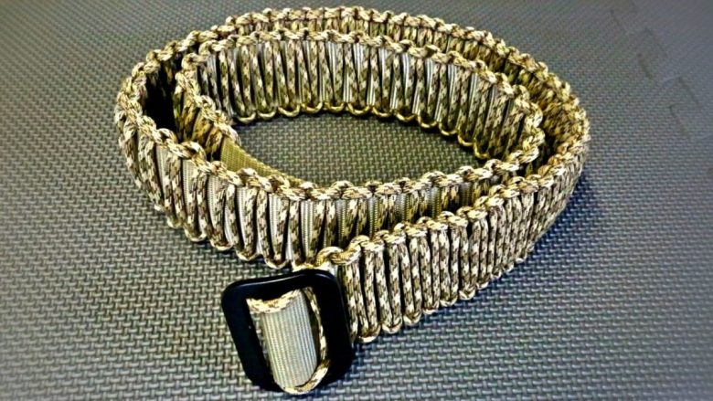 paracord survival belt - how to make your own