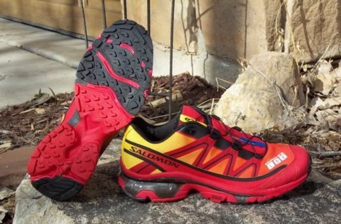 Salomon trail running shoes ready for action