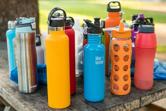Image showing types of water bottles