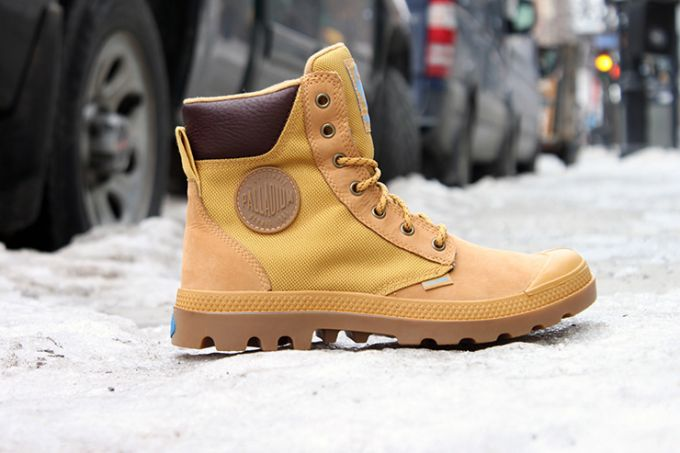 Image showing a brown winter boot for women