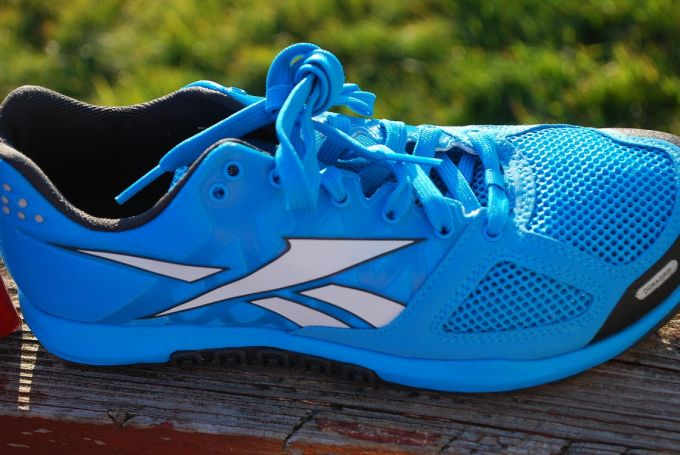 Sky blue colored crossfit shoes