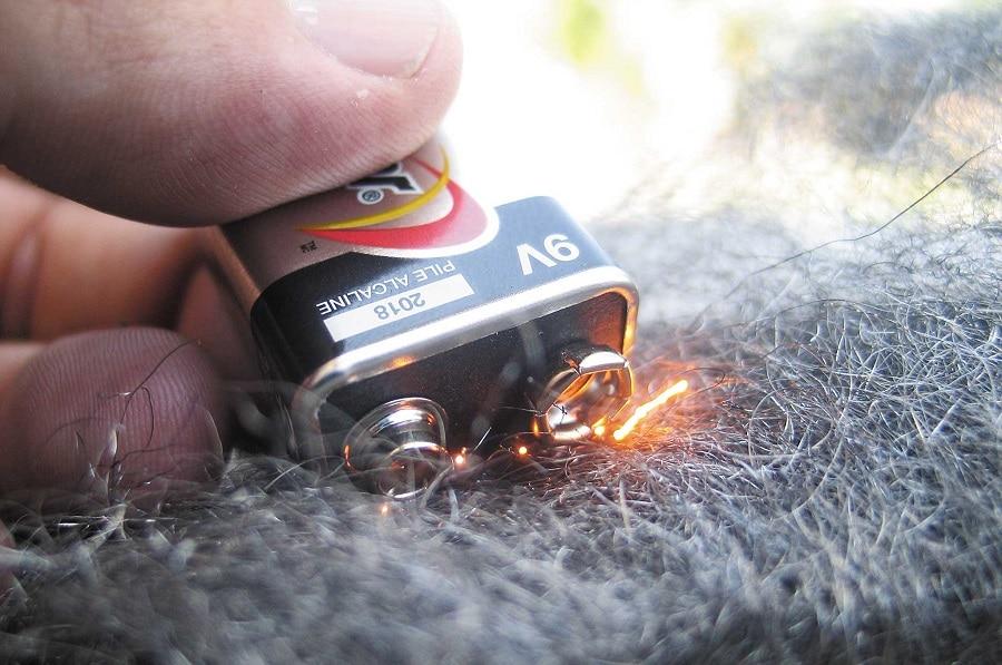 Batteries and Steel Wool