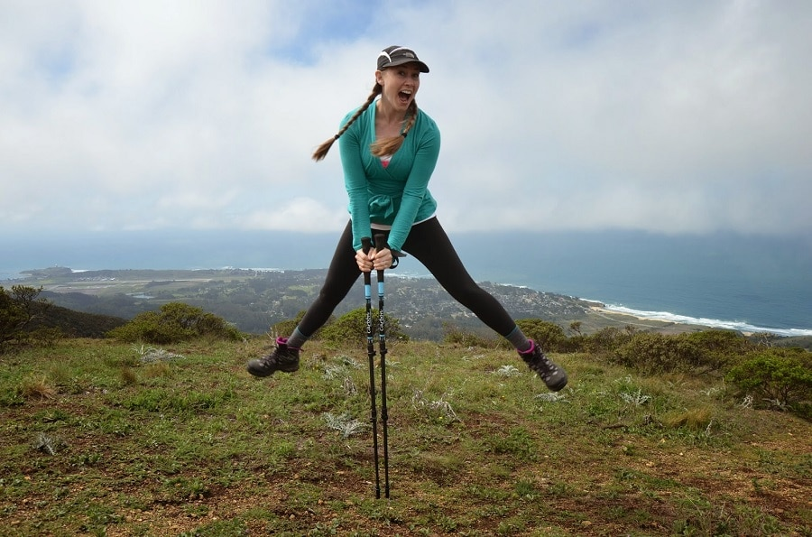Carbon fiber hiking poles