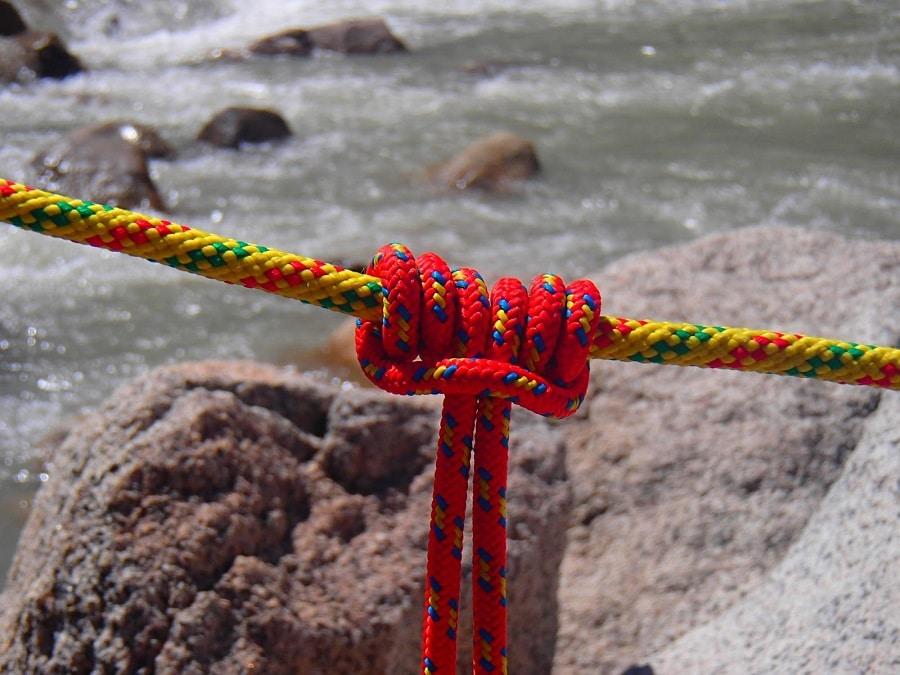 Climbing knot outdoor
