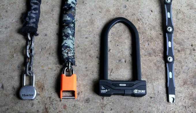 Different bike locks