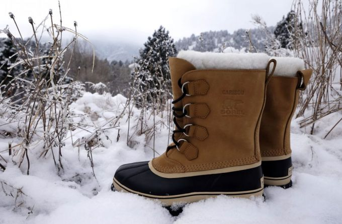 Image showing a pair of casual walking winter boots