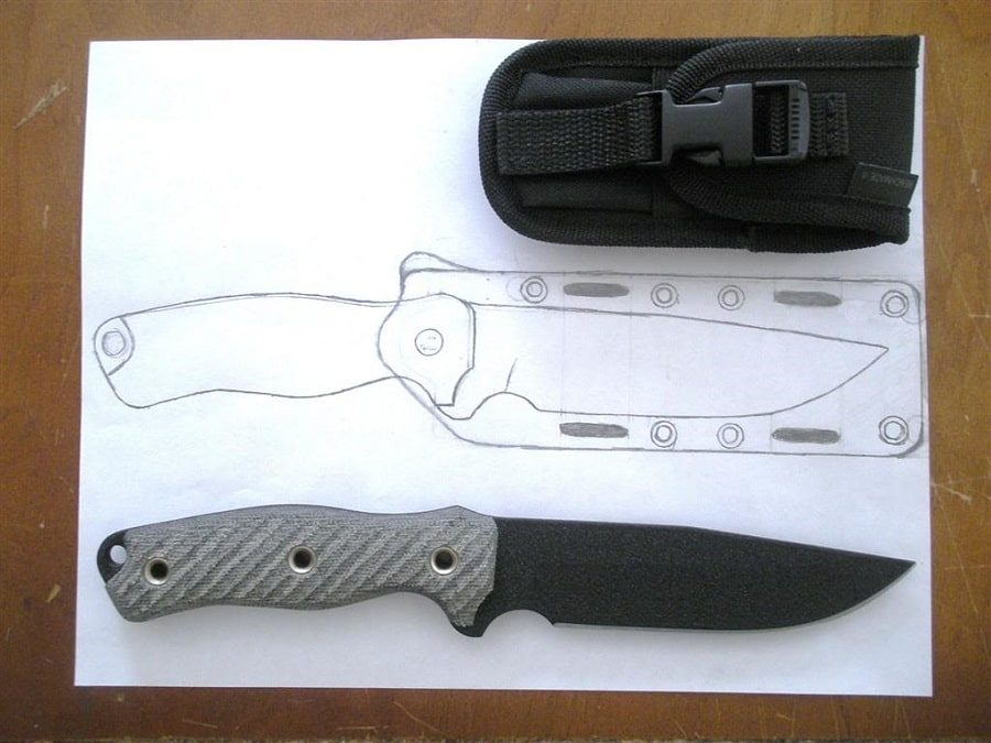 Knife sheath at home