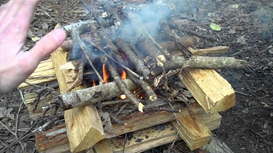 Log Cabin Fire Lay
