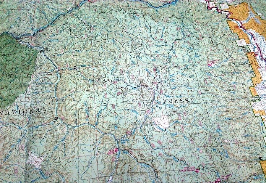 Map Contour lines
