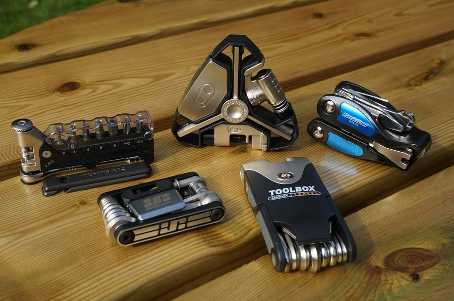 Multi tools on table