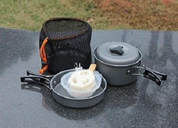 OuterEQ 8pcs Lightweight Outdoor Camping Hiking Cookware