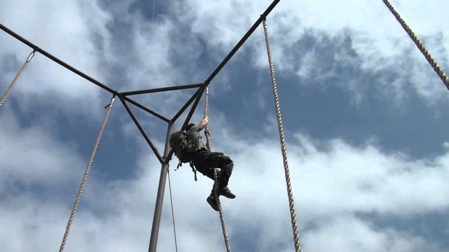 Rope climbing practice
