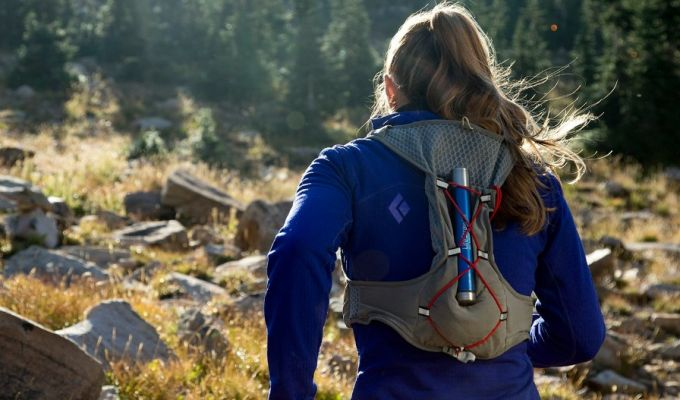 lifestraw personal water filter on backpack