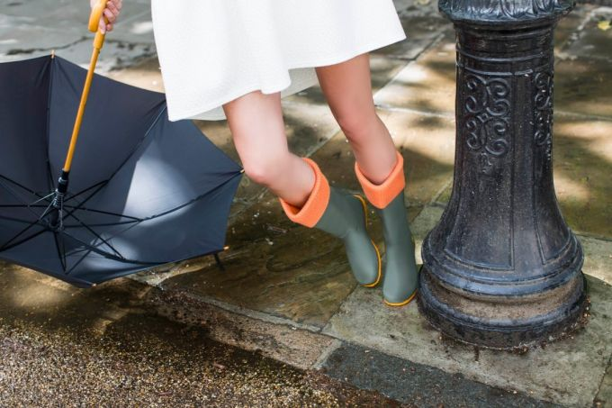 Style in wearing rain boots