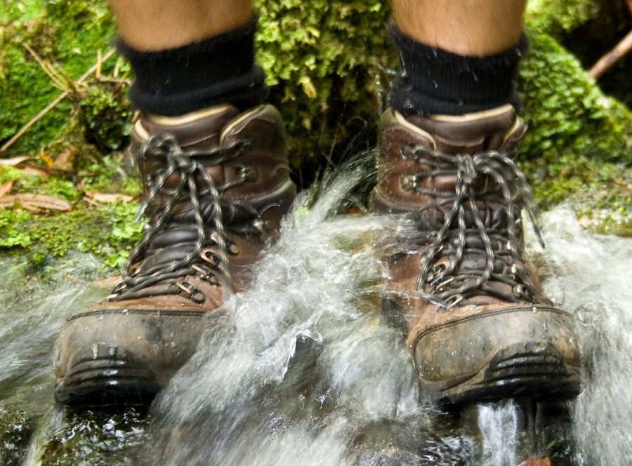 Waterproofed boots