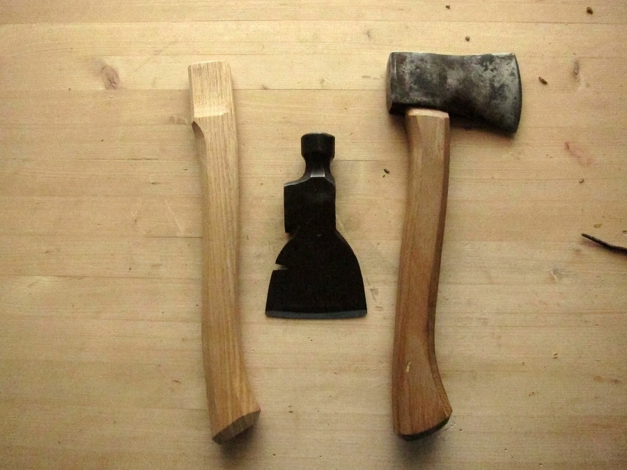 Kiln dried axe handle