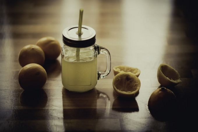 A mason jar sports drink