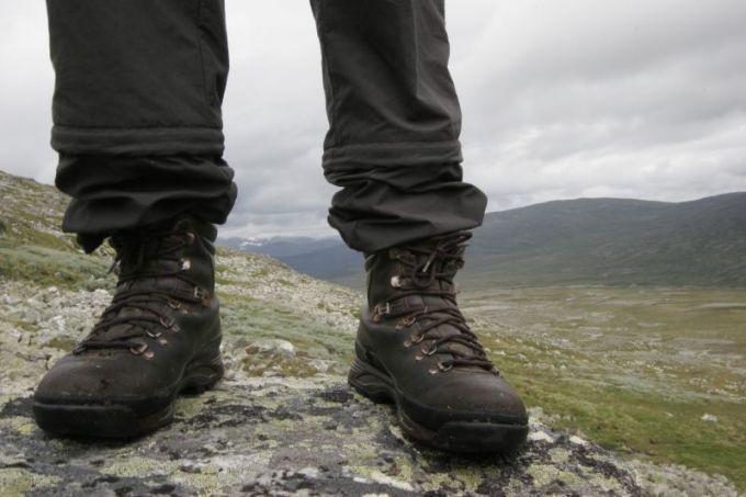 Black man's hiking boots