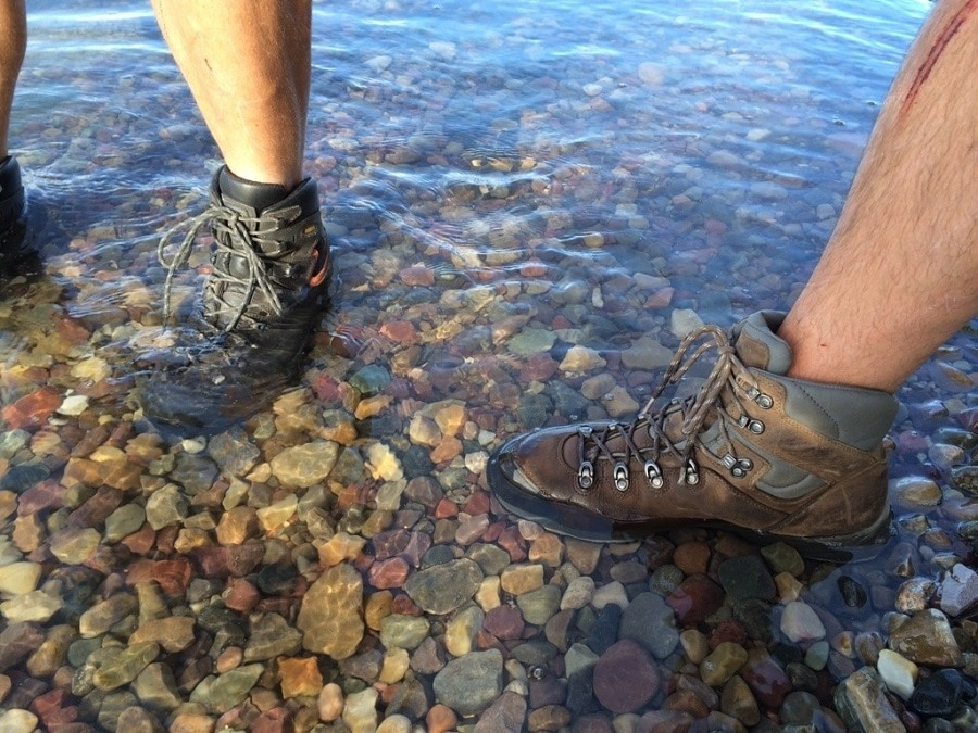 Backpacking boots water resistance