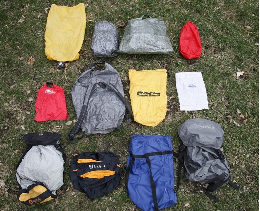 Backpacking sleeping bags in the wild