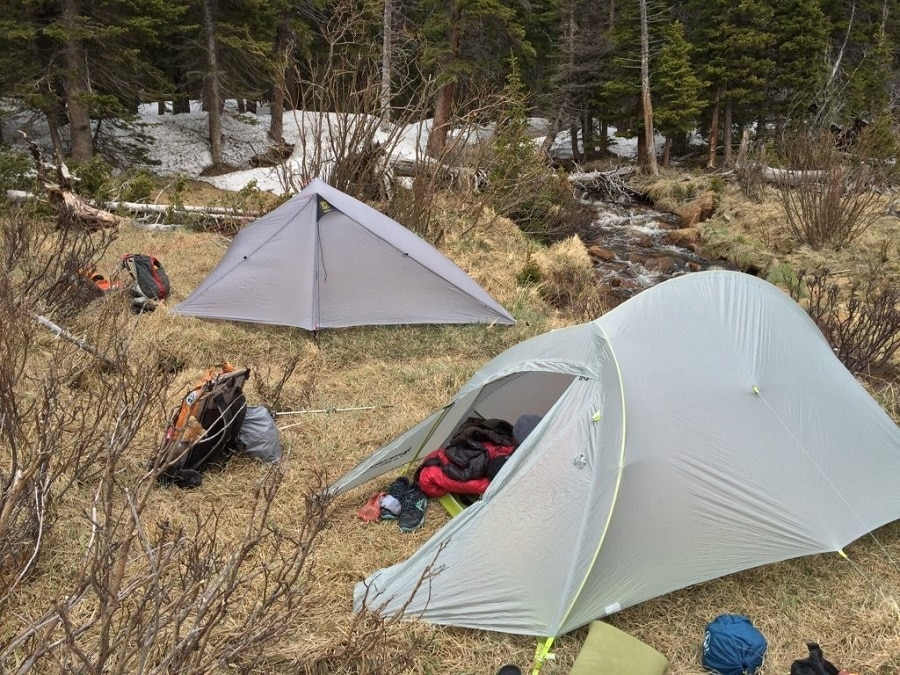 Backpacking tents outdoor
