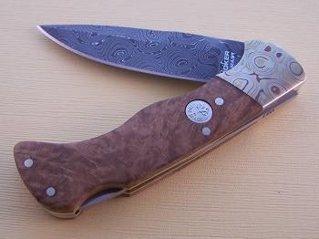 Boker Mokume Damascus Knife
