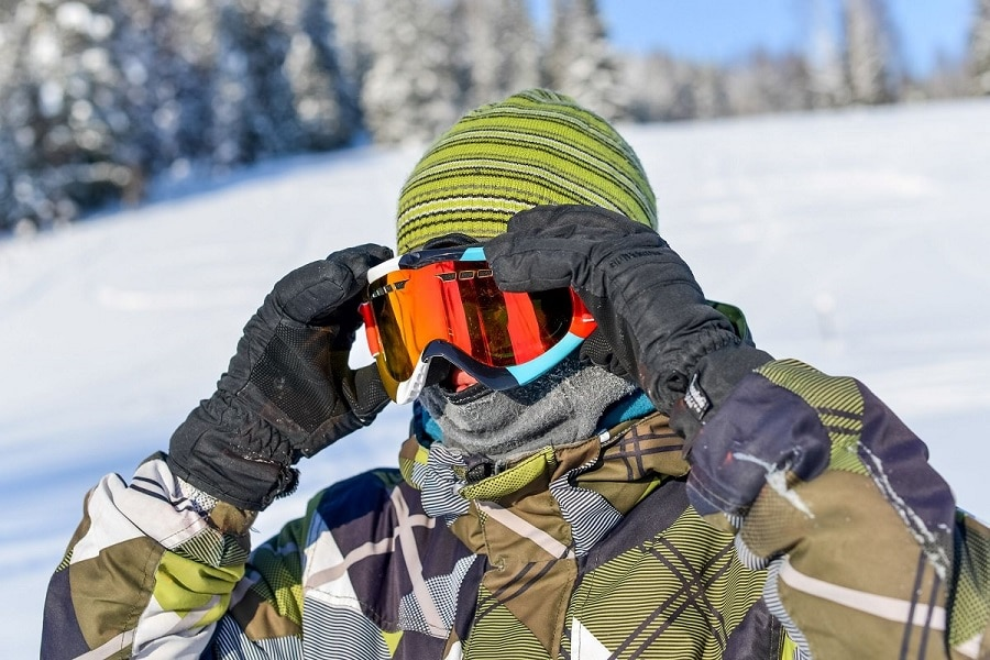 Breathability of a ski goggles