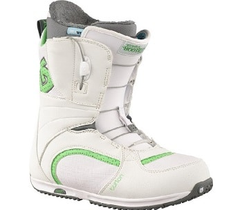 Burton Bootique Snowboard Boots White/Green Womens
