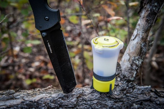 Image showing a camping lantern and a knife