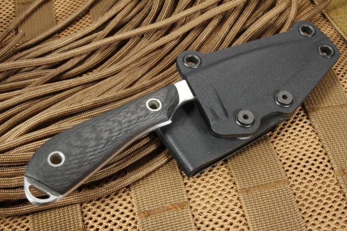 Carbon Fiber Fixed Blade Knife Handle