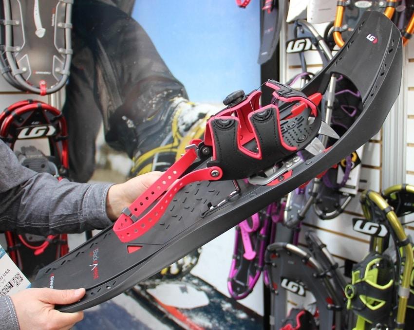 Choosing snowshoes