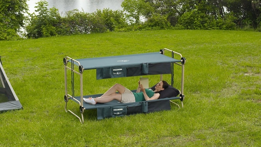 Double camping cot