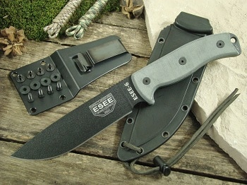 ESEE 6P-B Plain Edge Fixed Blade Survival Knife