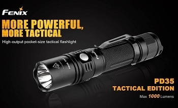 Fenix PD35 TAC 1000 Lumen CREE Tactical Flashlight