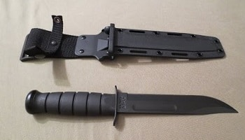 KA-BAR #1213 Black Straight Edge Knife