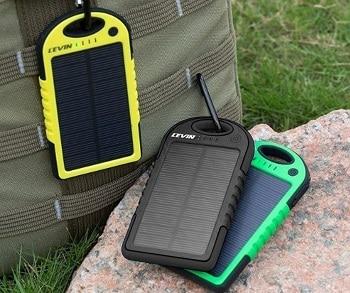 Levin Dual USB Port 6000mAh Portable Solar Panel Charger