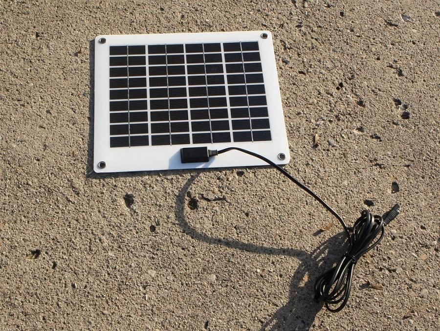 Monocrystalline portable panel