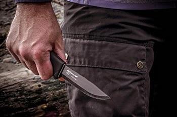 Morakniv Bushcraft Carbon Black Tactical Knife
