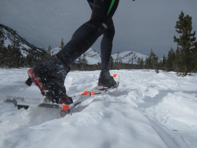 Mountaineering snowshoes