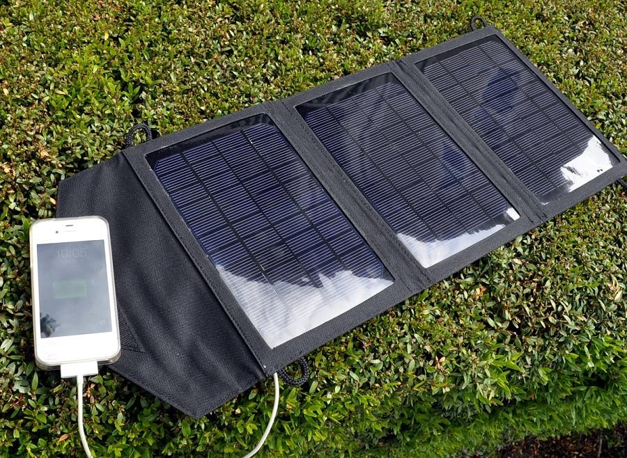 Portable solar panels charging