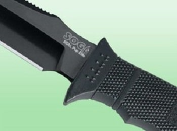 SOG SEAL Pup Elite Fixed Blade E37SN-CP - Black