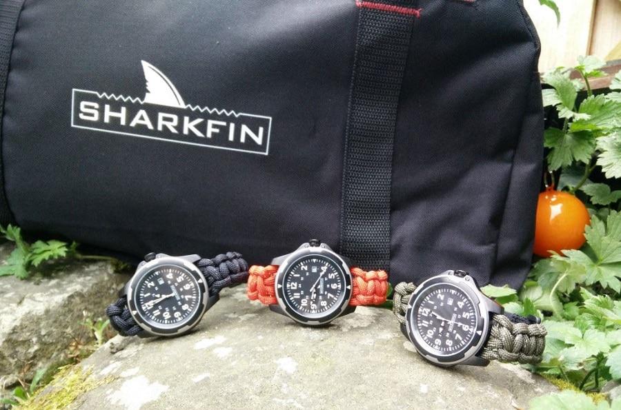 Sharkfin survival watches